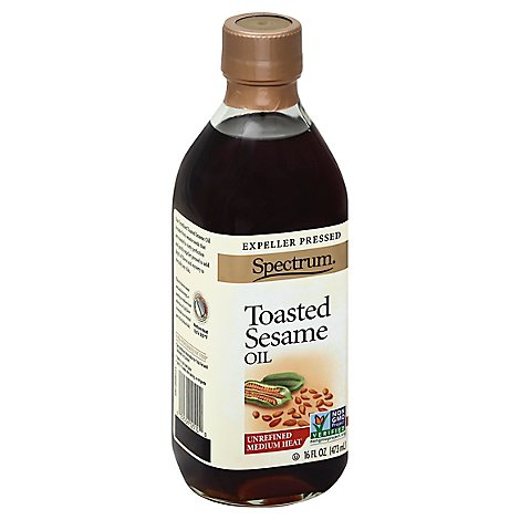 Spectrum Sesame Oil Toasted Unrefined - 16 Fl. Oz.