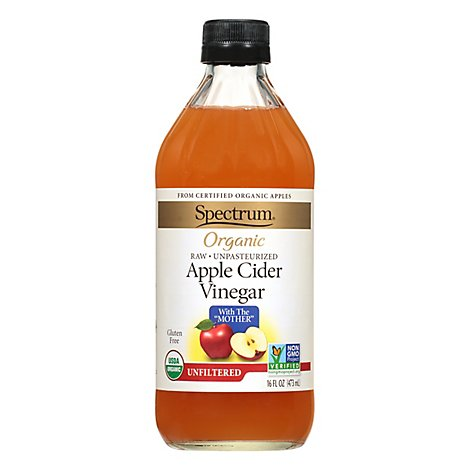 Spectrum Organic Vinegar Apple Cider Unfiltered - 16 Fl. Oz.