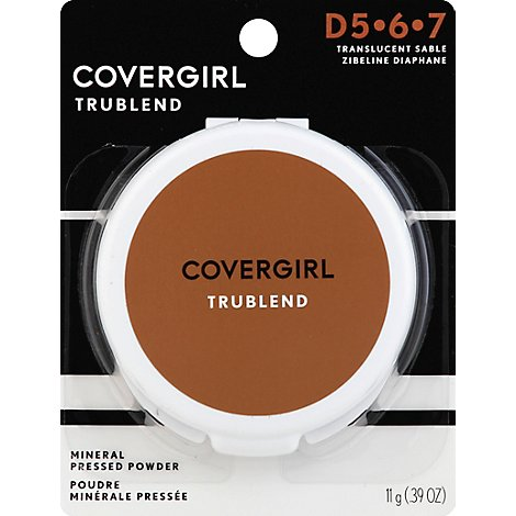 COVERGIRL truBLEND Mineral Pressed Powder Translucent Sable 6 - 0.39 Oz