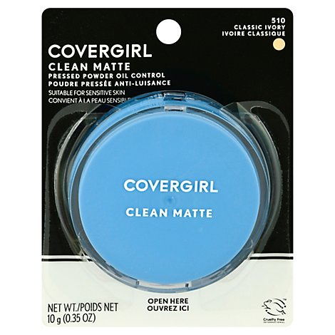 COVERGIRL Clean Pressed Powder Oil Control Anti-Luisance Classic Ivory 510 - 0.35 Oz