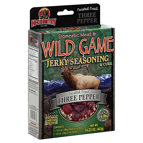 Hi-Country Seasoning Jerky & Cure Twisted Trail Three Pepper - 14.23 Oz
