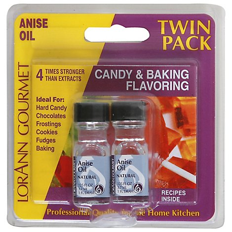 LorAnn Oils Candy Flavoring Oil Anise - 2-0.125 Fl. Oz.
