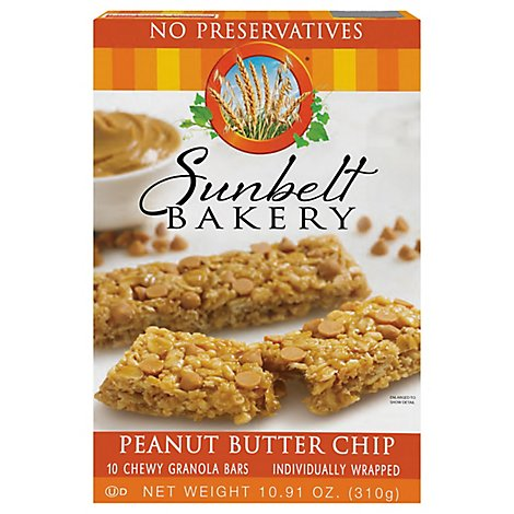 Sunbelt Bakery Granola Bars Chewy Peanut Butter Chip - 10 Count