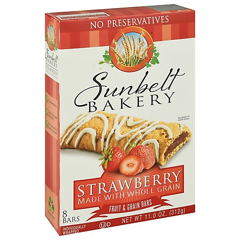 Sunbelt Bakery Fruit & Grain Bars Strawberry - 8 Count