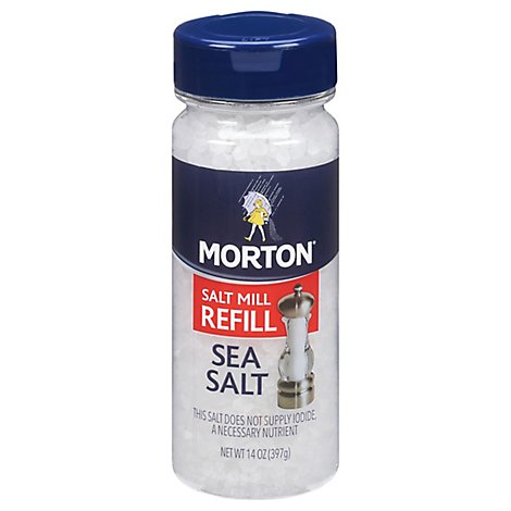 MORTON Sea Salt Salt Mill Refill - 14 Oz