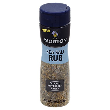 MORTON Sea Salt Rub Cracked Peppercon & Herb - 3.9 Oz