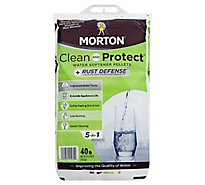 MORTON Water Softening Pellets + Rust Defense Clean and Protect - 40 Lb