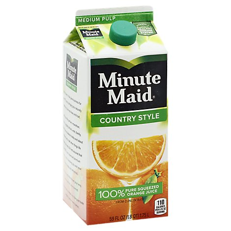 Minute Maid Juice Country Style Orange Carton - 59 Fl. Oz.