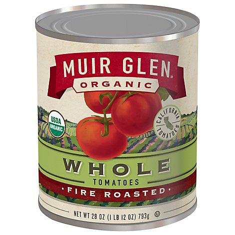 Muir Glen Tomatoes Organic Whole Fire Roasted - 28 Oz