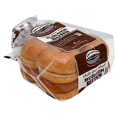 Wheat Mt Wheat Hamburger Buns - 20 Oz