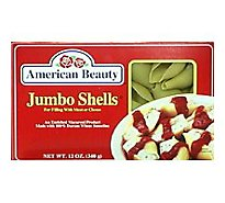 American Beauty Pasta Shells Jumbo - 12 Oz