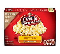 Orville Redenbachers Popping Corn Gourmet Butter - 3-3.29 Oz