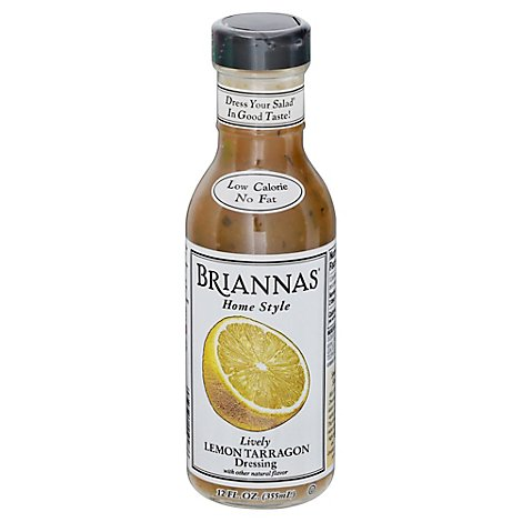 BRIANNAS Dressing Special Request Lemon Tarragon Lively - 12 Fl. Oz.