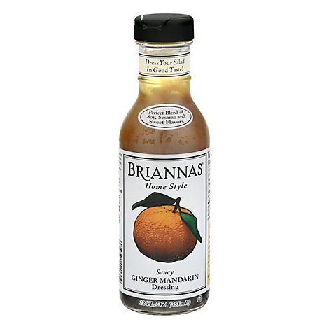 BRIANNAS Dressing Home Style Ginger Mandarin Saucy - 12 Fl. Oz.