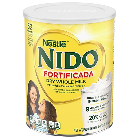 Nido Fortificada Milk Whole Dry Can - 56.3 Oz