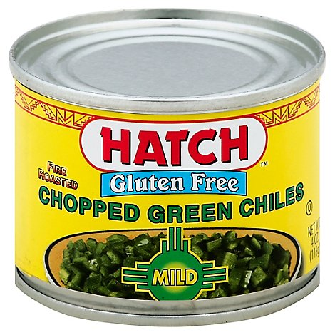 HATCH Select Green Chiles Gluten Free Chopped Fire-Roasted Can - 4 Oz