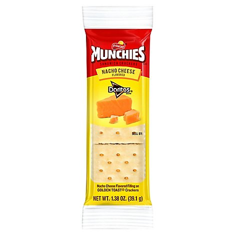 MUNCHIES Crackers Sandwich Nacho Cheese Flavored - 1.38 Oz