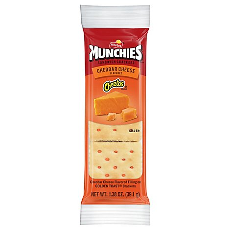 MUNCHIES Crackers Sandwich Cheddar Cheese Flavored - 1.38 Oz