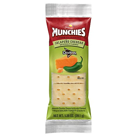 MUNCHIES Crackers Sandwich Jalapeno Cheddar Flavored - 1.38 Oz