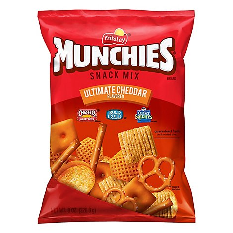 MUNCHIES Snack Mix Ultimate Cheddar Flavored - 8 Oz