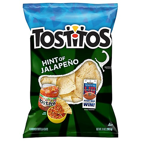 TOSTITOS Tortilla Chips Hint Of Jalapeno - 13 Oz