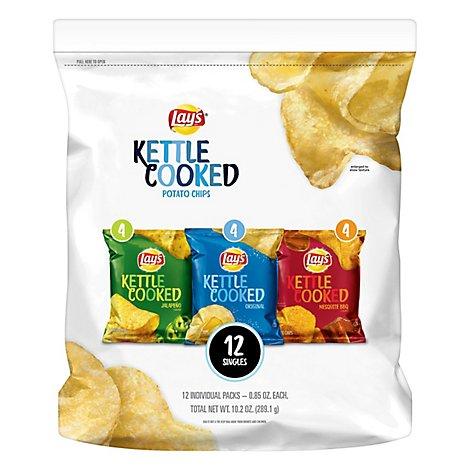 Lays Potato Chips Kettle Cooked - 12-0.85 Oz