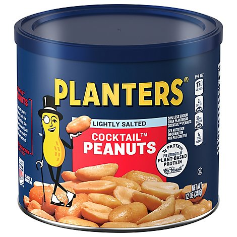 Planters Peanuts Cocktail Lightly Salted - 12 Oz