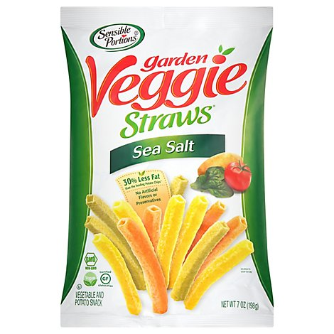 Sensible Portions Garden Veggie Straws Sea Salt - 7 Oz