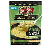 Idahoan Steakhouse Soup Potato Cheddar Broccoli - 6.6 Oz