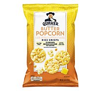 Quaker Popped Rice Crisps Gluten Free Butter Popcorn - 3.03 Oz