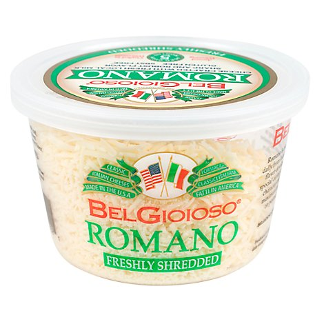 BelGioioso Cheese Romano Shredded Cup - 5 Oz