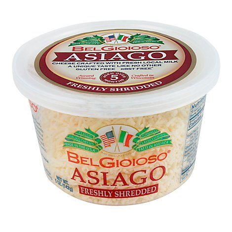 BelGioioso Cheese Asiago Shredded Cup - 5 Oz