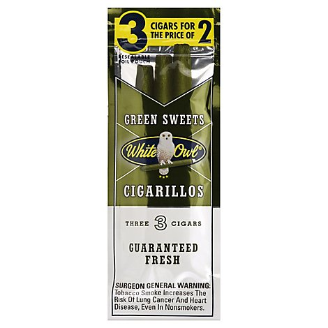 White Owl Green Sweet Cigarillo 3 For 2 - 3 Count