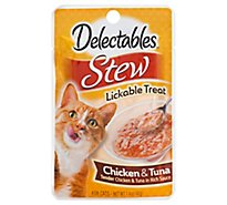 Delectable Lickable Treat Stew Chicken & Tuna Pouch - 1.4 Oz
