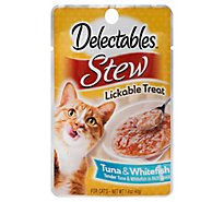Hartz Delectables Lickable Treat Stew Tuna & Whitefish Pouch - 1.4 Oz