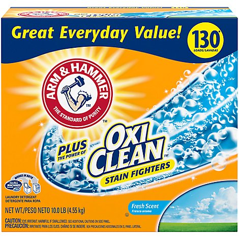 ARM & HAMMER Laundry Detergent Oxi Clean Fresh Box - 10 Lb