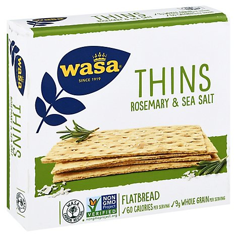 Wasa Flatbread Thins Rosemary & Sea Salt - 6.7 Oz