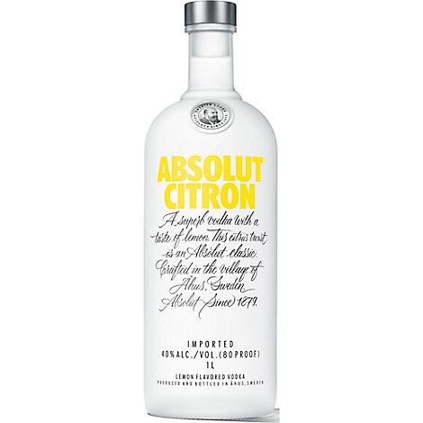 Absolut Citron Vodka - 1 Liter