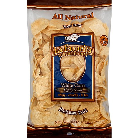 La Favorita Tortilla Chips Lightly Salted White Corn - 16 Oz