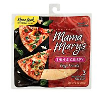 Mama Marys Pizza Crust Thin & Crispy Bag 3 Count - 9 Oz