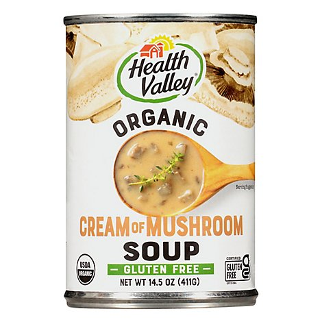 Health Valley Organic Soup Cream of Mushroom - 14.5 Oz