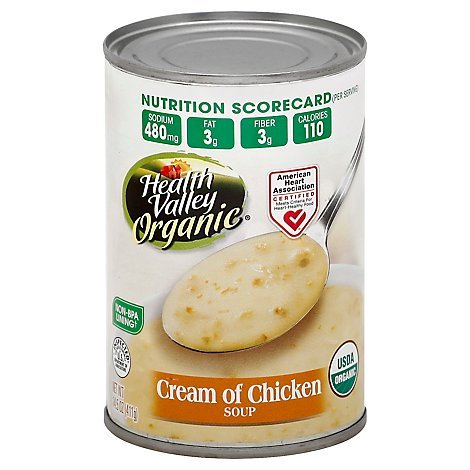 Health Valley Organic Soup Cream of Chicken - 14.5 Oz