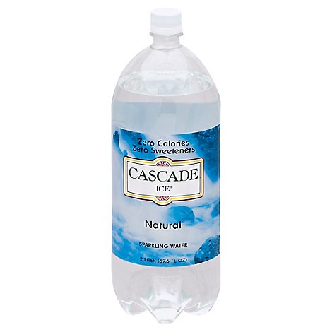 Cascade Ice Sparkling Water Zero Calories Natural - 67.6 Fl. Oz.