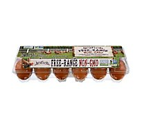 NestFresh Eggs Non GMO Free Range Large Grade A Brown - 12 Count