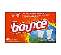 Bounce Fabric Softener Dryer Sheets Outdoor Fresh - 40 Count