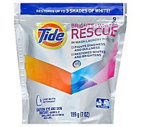 Tide Laundry Booster In Wash Brights Whites Rescue Pouch 9 Count - 7 Oz