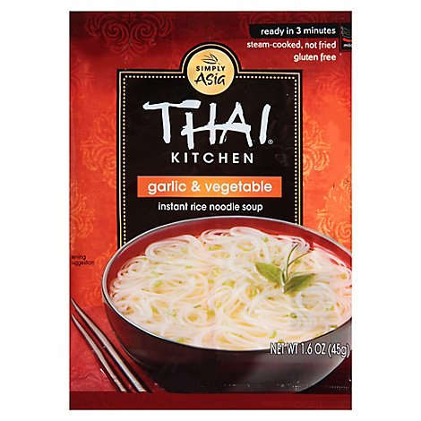 Thai Kitchen Gluten Free Instant Rice Noodle Soup Garlic & Vegetable - 1.6 Oz