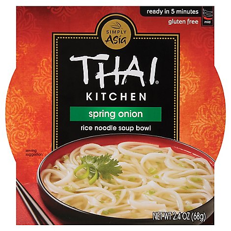 Thai Kitchen Rice Noodle Soup Bowl Gluten Free Spring Onion - 2.4 Oz