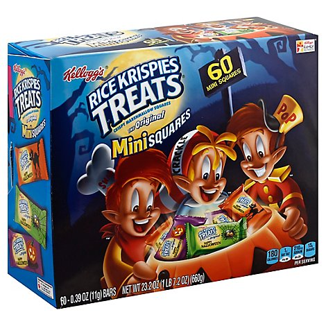 Rice Krispies Treats Crispy Marshmallow Squares Mini Squares The Original Halloween - 60-0.39 Oz