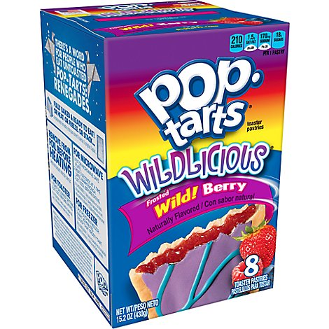 Pop-Tarts Breakfast Toaster Pastries Wildlicious Frosted Wild Berry Flavored (8 Count) 15.2 oz